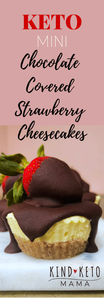 Keto Mini Chocolate Covered Strawberry Cheesecakes