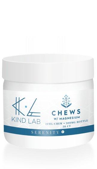Kind Lab Serenity CBD Chews in a jar