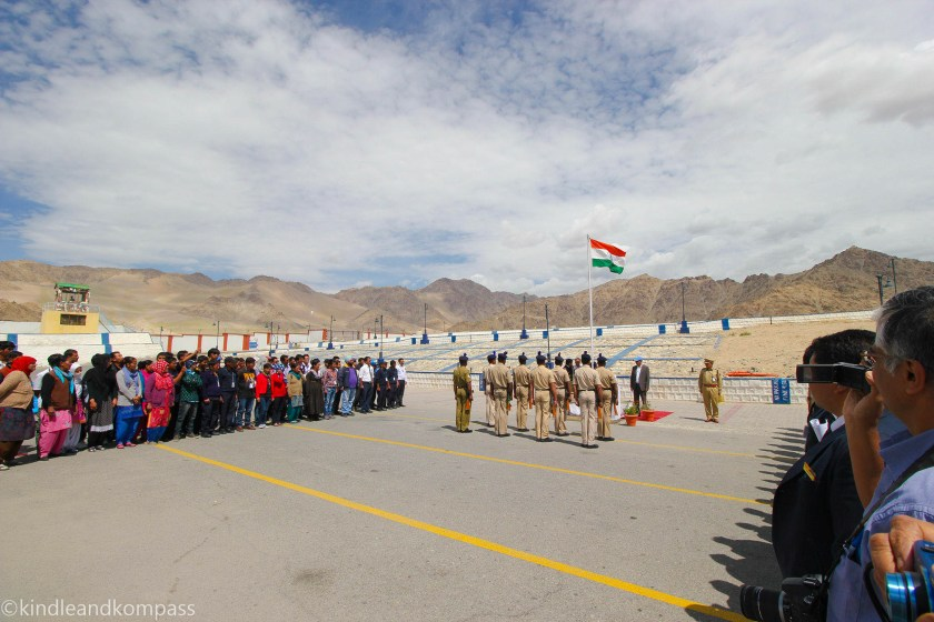 Independence day in Leh ladakh rimpochee airport