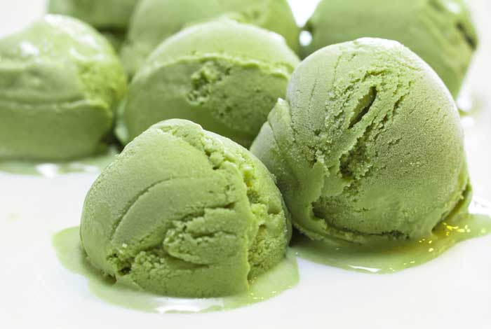 Homemade Green Tea Ice Cream