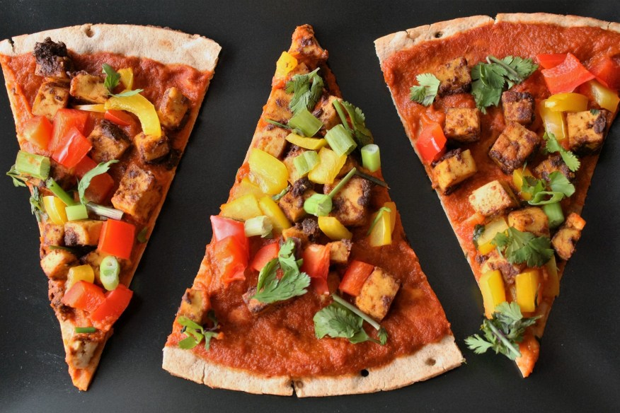 punjabi pizza slices