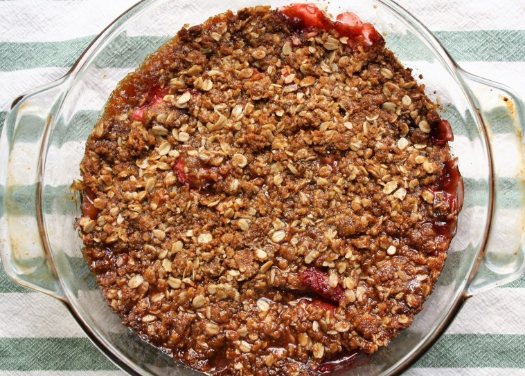 Strawberry Rhubarb Crisp - Baked