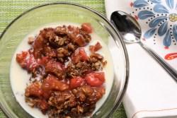 Strawberry Rhubarb Crisp Plated