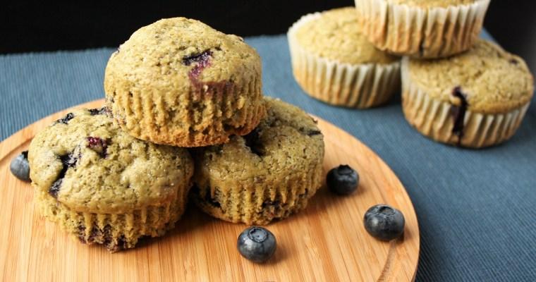 Blueberry Matcha Muffins (AKA: Superfood Muffins!)