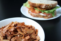 Maple Coconut Bacon Sandwich Background