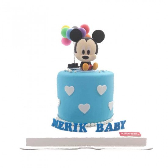 Adorable Baby Mickey Mouse 1st Birthday Cake Free Delivery
