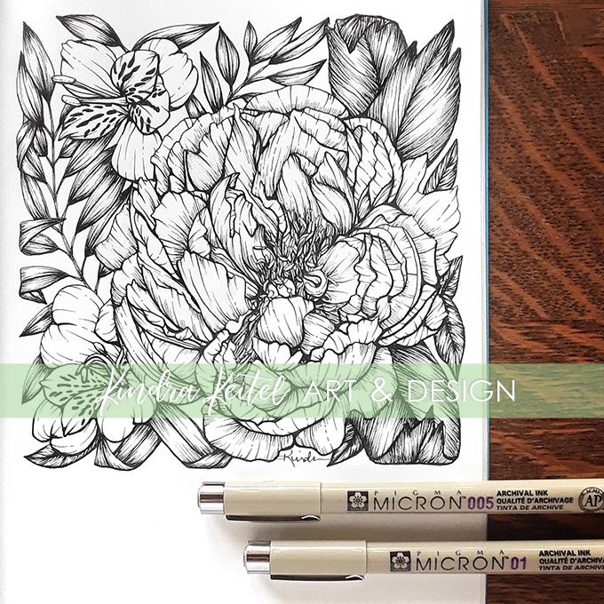 alstroemeria botanical illustration