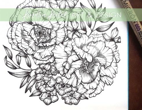 lisianthus botanical illustration