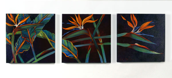 Birds of Paradise Trio (Light) by Lucinda Hayes