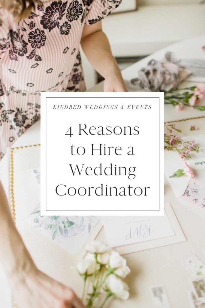 4 Reasons to Hire a Wedding Coordinator that will help your wedding vendors do their best job!