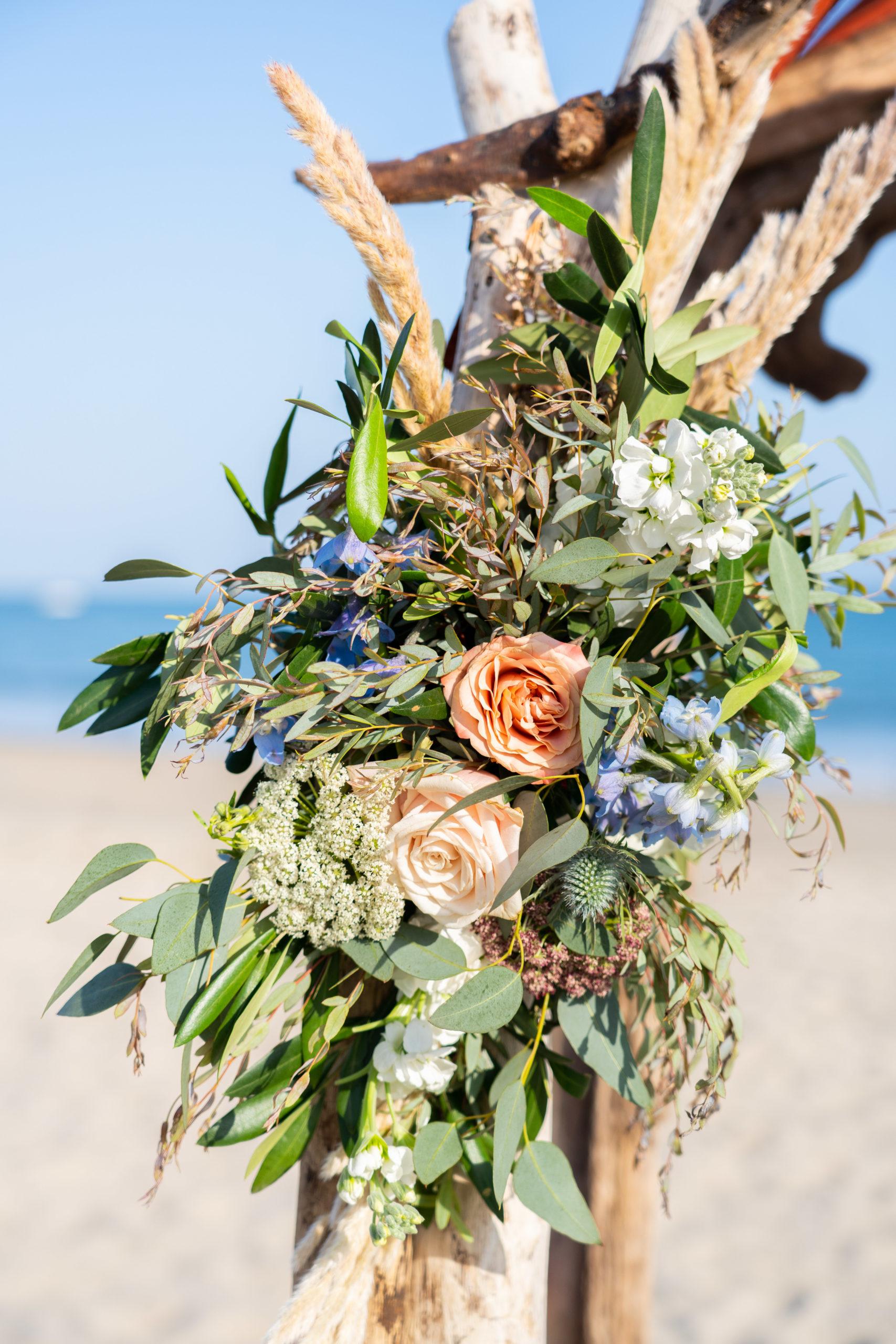 Beachy Wedding Florals