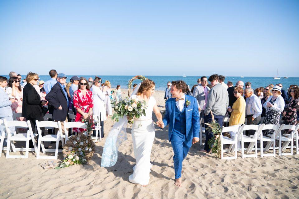 Bride and Groom Santa Barbara Beach Ceremony
