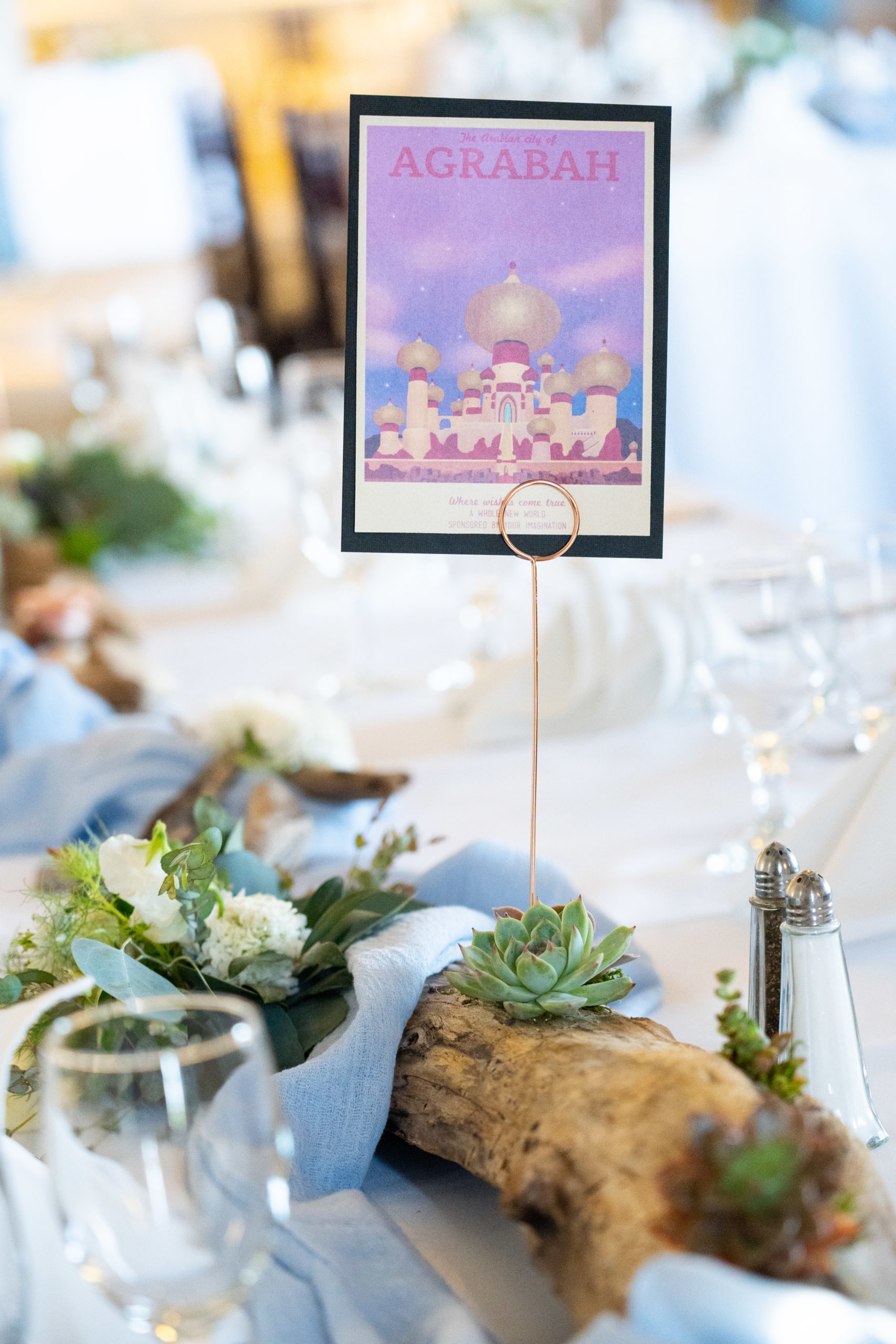 Fantasy Lands as Wedding Table Numbers