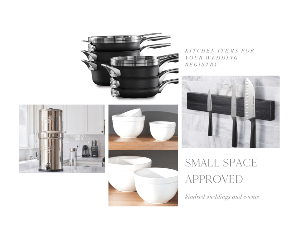 small kitchen approved wedding registry items