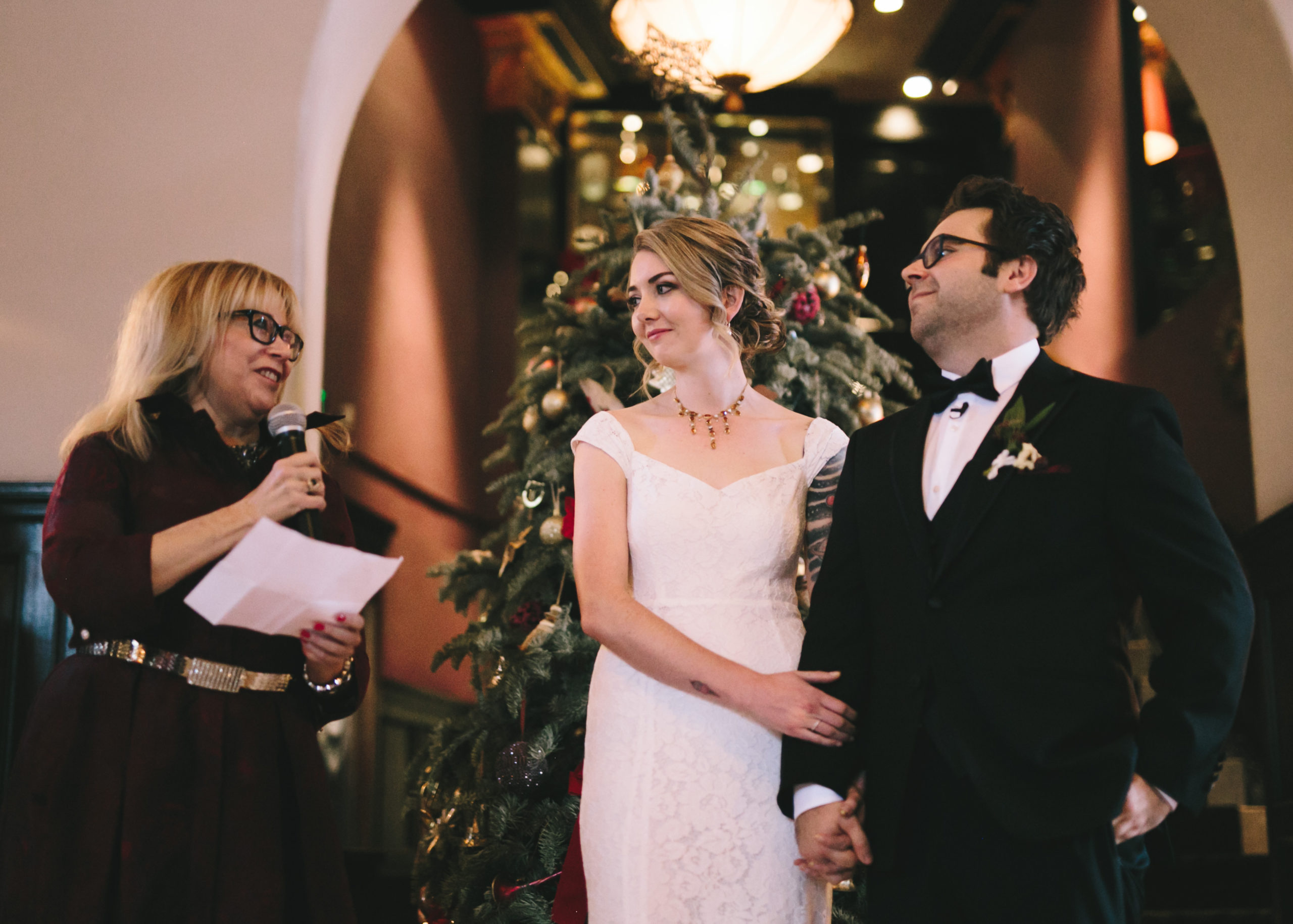 Couple marry at ceremony in Culver Hotel