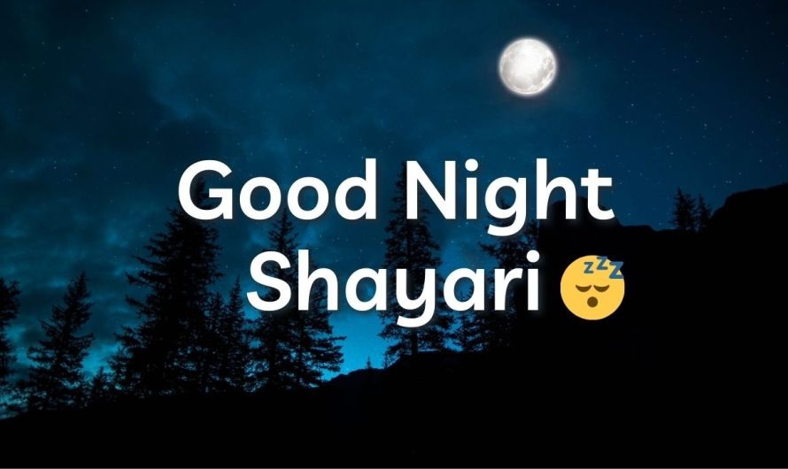 Good Night Shayari | Good Night Shayari in Hindi | गुड नाईट शायरी