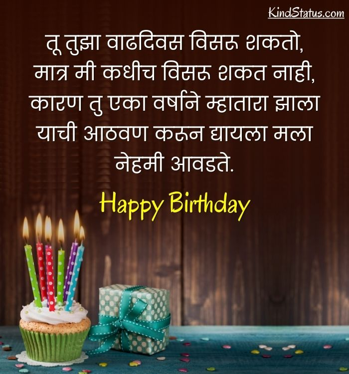 funny birthday wishes for brother in marathi