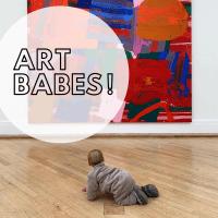 Kind und Kunst und Baby Kunstführungen für Eltern mit Babys Baby Kunst Art Babes