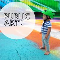 Kunstführungen für Kinder Kind und Kunst Public Art Kunst im öffentlichen Raum Katharina Grosse Hamburger Bahnhof
