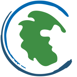 The Kind World Publishing icon is an earth illustration in blue and green showing Pangea.