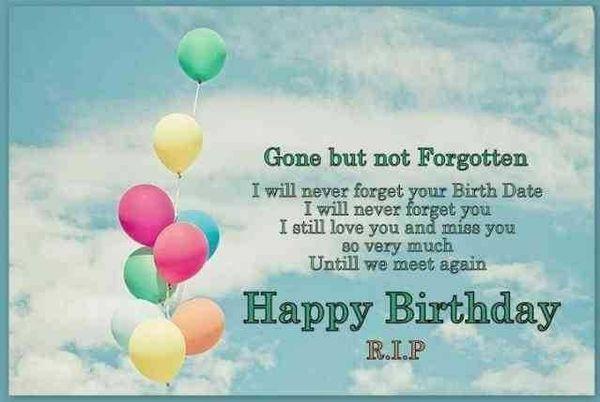 Happy Birthday In Heaven Quotes For Mom Dad Son Grandma Grandpa