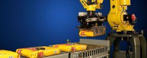 High speed robotic bag palletizer
