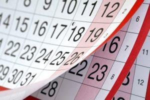 Calendario formacion kinesiologia
