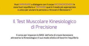 Test Muscolare Kinesiologico di Precisione