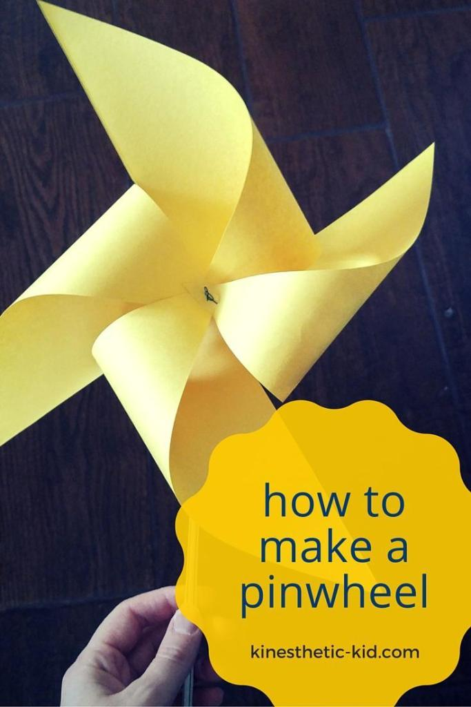 How to make a pinwheel using three things! A quick and easy tutorial.