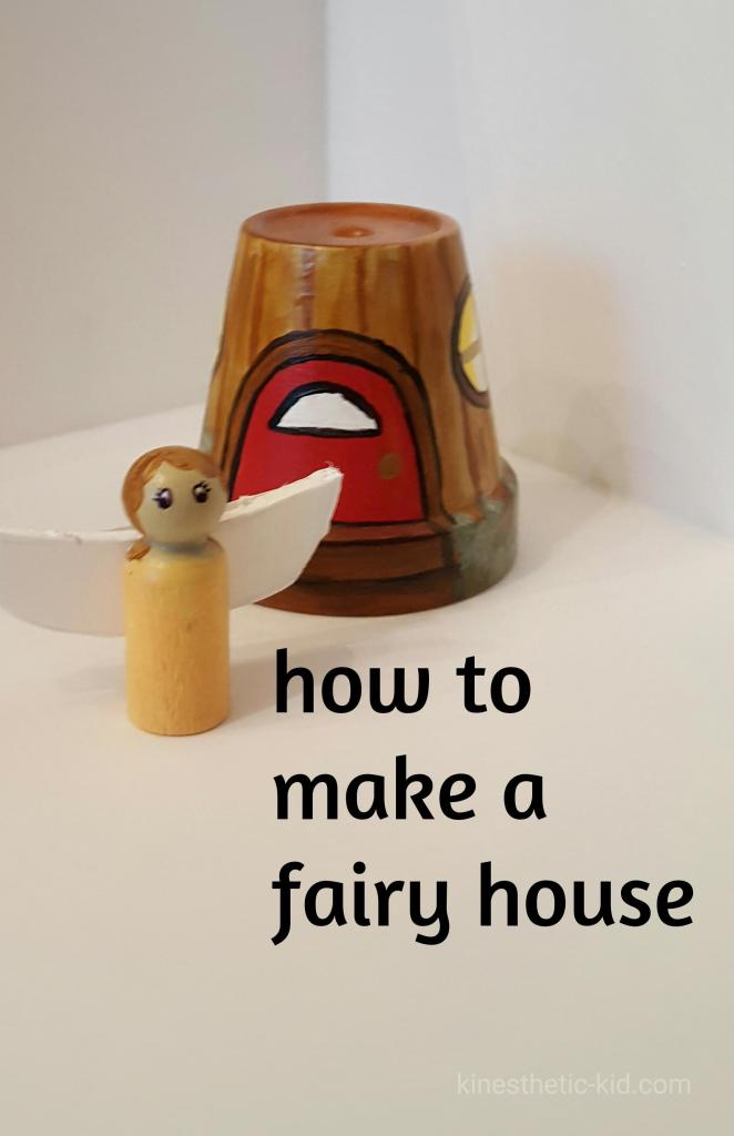 Learn how to make a fairy house out of a small terracotta pot. This craft was my favorite. I love the finished product. It's the perfect fairy house for my indoor fairy garden.
