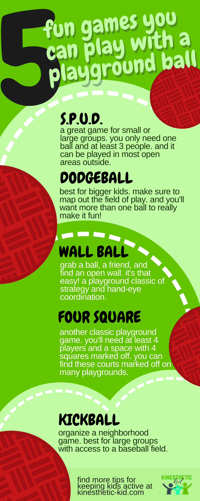5 great games to play with a playground ball