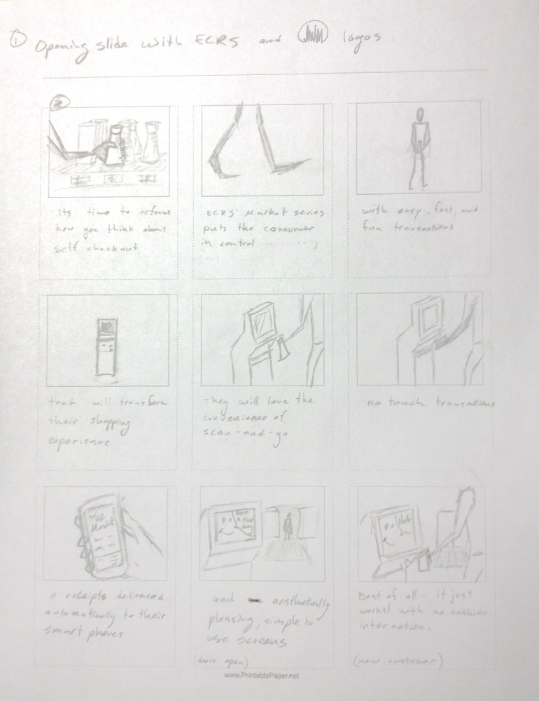 animating with pencil sketch storyboard