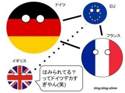 EU内でのイギリス・フランス・ドイツの関係