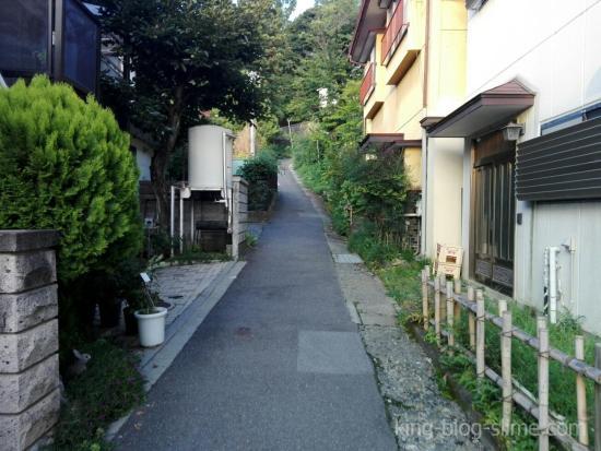 立石公園への道②