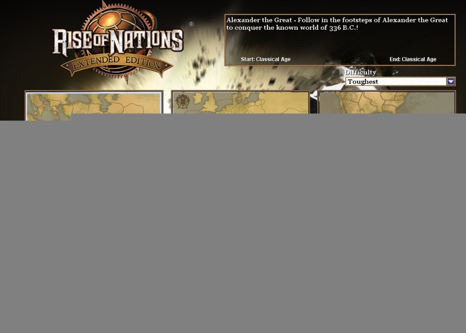New to Rise Of Nations - Conquer the World Campaigns