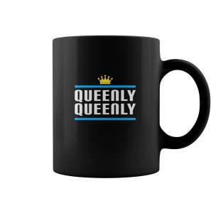 Queen And King Golden Crown Queenly Queenly Matching Couple Wife Gift Mug