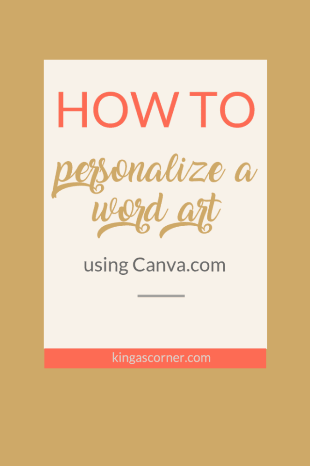 How to Personalize a Word Art for Valentine's Day - KingasCorner