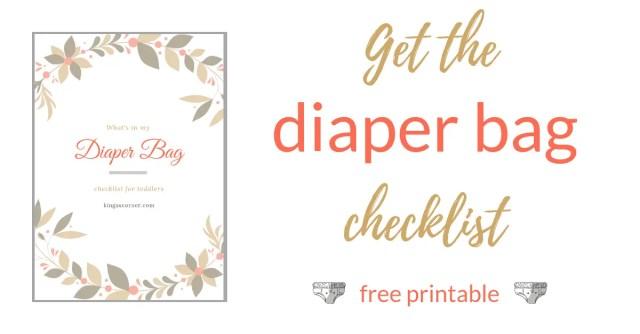 diaper bag checklis freebie