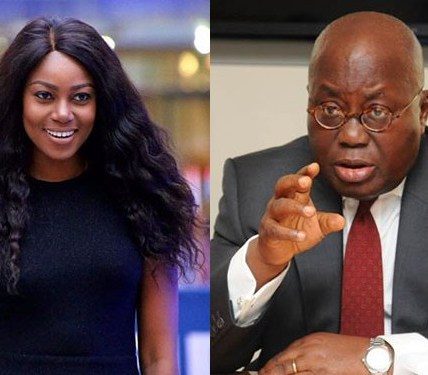 Yvonne Nelson and Akufo Addo
