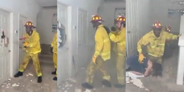 firefighter rescues man and woman