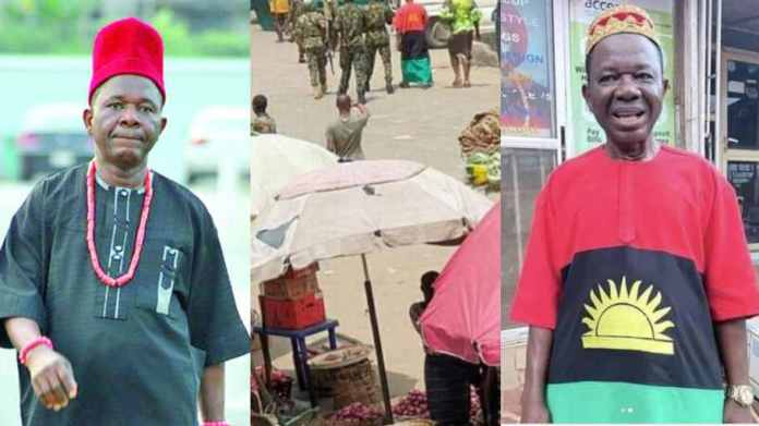 Chiwetalu Agu Brutalized And Arrested By Soldiers For Wearing Biafran Flag Outfit