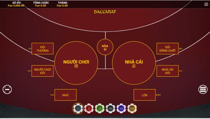 cách chơi baccarat tại Live Casino House