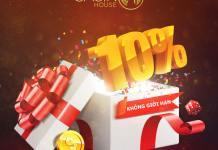 khuyến mãi nạp lại 10% tại Live Casino House