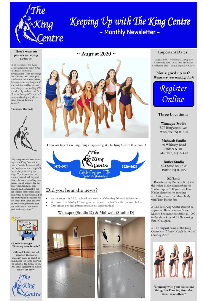 KC - Newsletter August pg 1