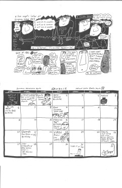 "Pages from ""Stella Seattle"" calendar, by Dominic Cappello. [Series 1825, History files, Seattle-King County Department of Public Health: Prevention Division / HIV-AIDS Program. 1825-6-10.]"