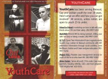 OutLOUD information card published by YouthCare and the AIDS Prevention Project. [Series 1825, History files, Seattle-King County Department of Public Health: Prevention Division / HIV-AIDS Program. 1825-6-15.]