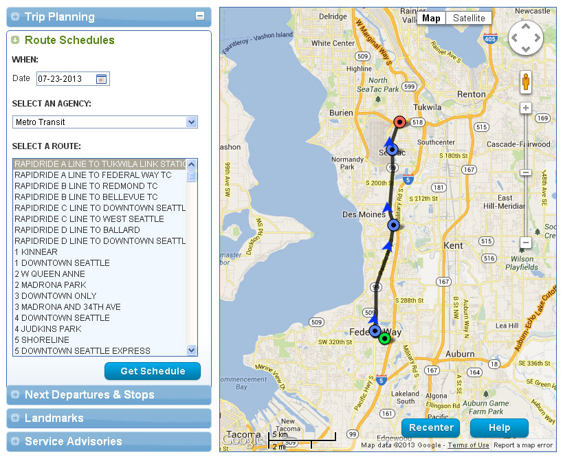 Driving Trip Planner >> Metro Test Driving A Beta Version Of A New Improved Trip