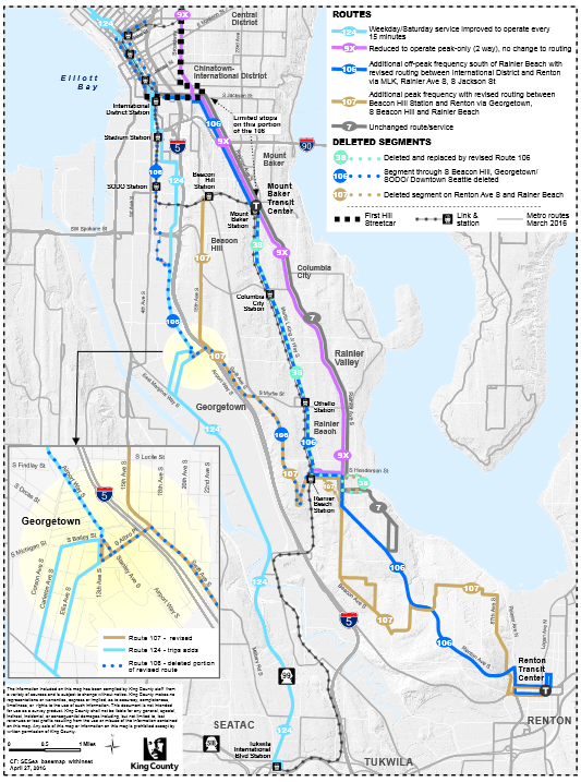 Georgetown Seattle Map.Revised Proposal Designed To Increase Service And Coverage To
