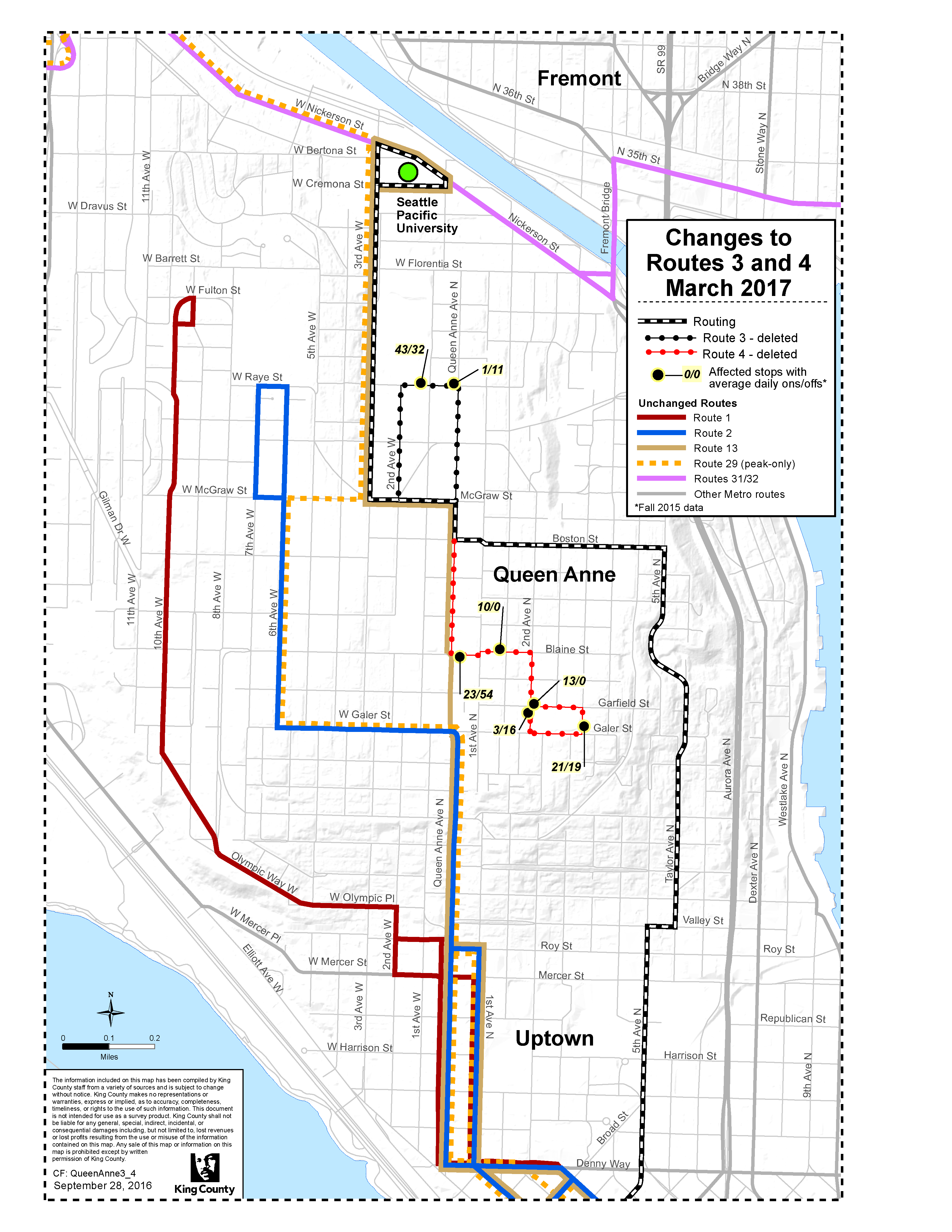 Metro to extend routes 3 and 4 to serve Seattle Pacific