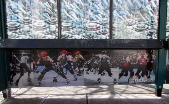 '8 rollergirls' by Roz Gerstein